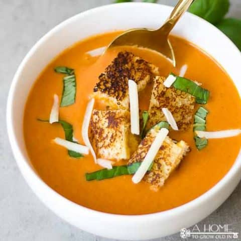 This creamy tomato soup recipe is so easy and amazing! It's better anything you'll order at a restaurant.