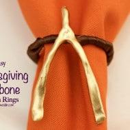 Easy Thanksgiving Wishbone Napkin Rings