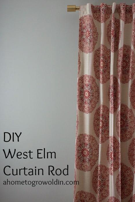 DIY West Elm Curtain Rod