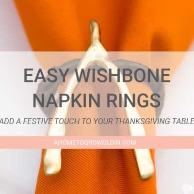 How to Make Easy Thanksgiving Wishbone Napkin Rings