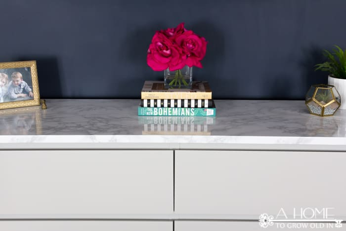 How to makeover your ikea malm dresser with a marble top a home