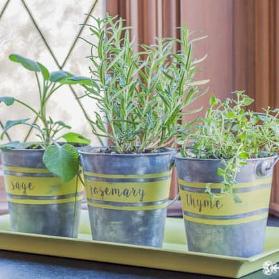 How to Age Galvanized Metal to Make Herb Planters