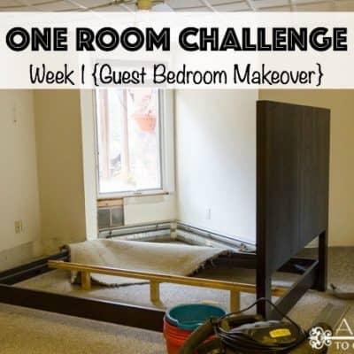 One Room Challenge: Week 1 {A Guest Bedroom Makeover}