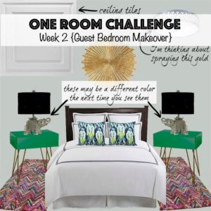 Week 2 of the One Room Challenge is here, and I've laid out the design plan for our guest bedroom makeover. Check out the plan, and follow along to see if we can get this room finished in just 6 weeks!