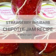 Strawberry Rhubarb Chipotle Jam with Printable Labels