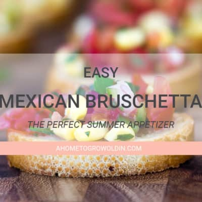 Easy Mexican Bruschetta Recipe