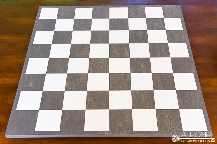 painted wood base for checkers