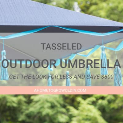Tasseled Outdoor Umbrella