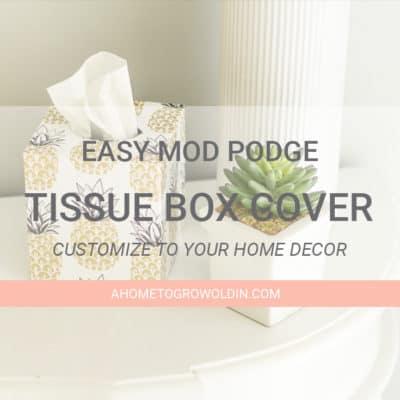 Easy Mod Podge Tissue Box Cover