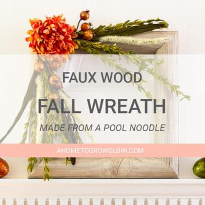 diy faux wood fall wreath