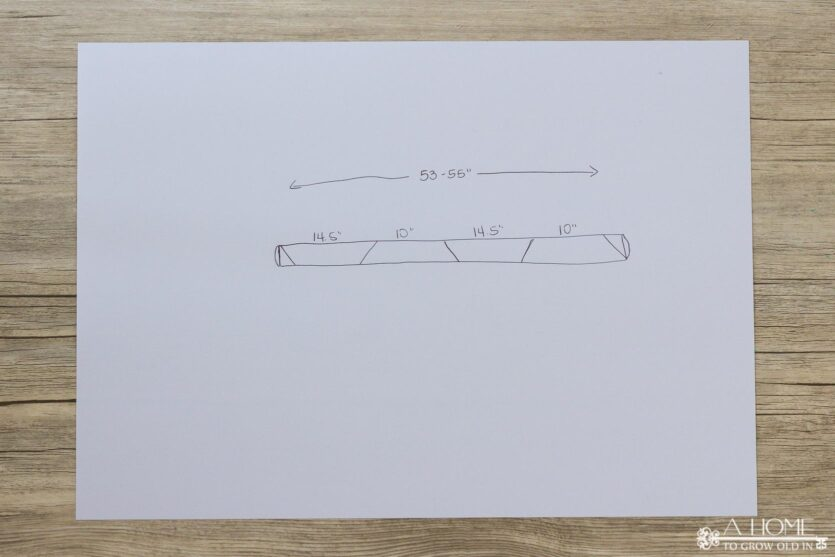 measurements to make a pool noodle wreath