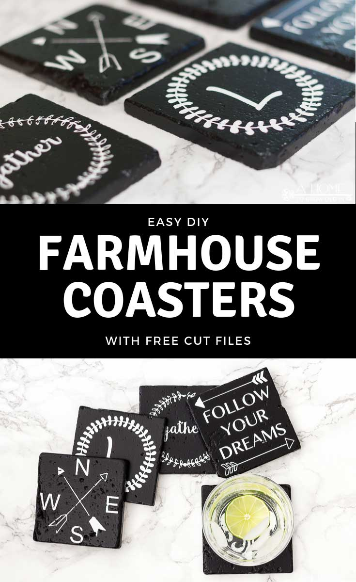 Graphic for Easy DIY Farmhouse Coasters