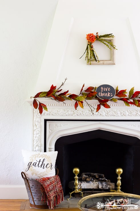 What an elegant fall fireplace! I can't get over how much great fall home decor inspiration there is here! Definitely pinning for later!