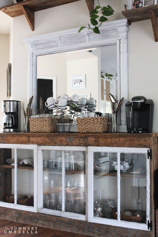 Check out these 10 amazing coffee and hot drink stations that will help inspire you to create your own. These are the best DIY ideas so that you can add one to your kitchen. Don't forget to pin it for later!