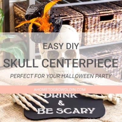 Easy Halloween Party Decoration- Skull Centerpiece