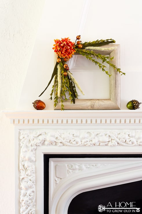 square fall faux wood wreath