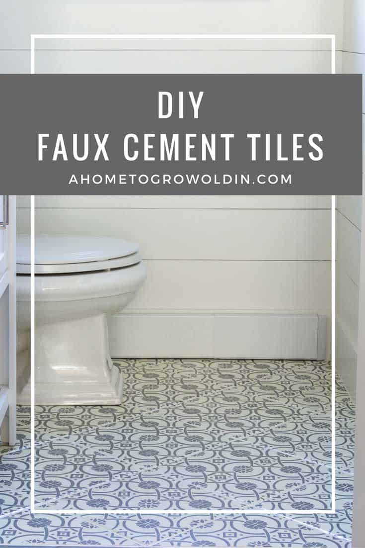 Cement Tiles- How to DIY Faux Cement Tiles with a Stencil