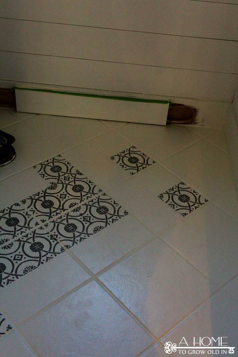 Cement Tiles How To Diy Faux Cement Tiles With A Stencil