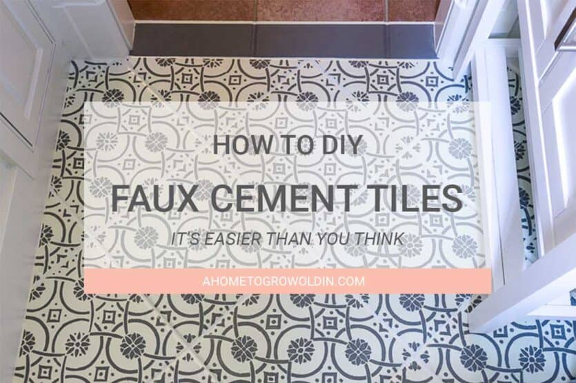 Cement Tiles How To DIY Faux Cement Tiles With A Stencil - Faux encaustic tile