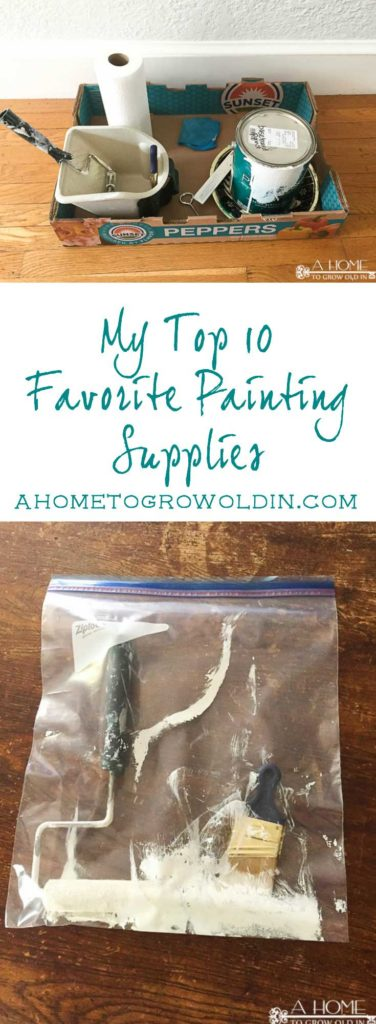 These are the top 10 paint supplies in my painting arsenal that save me time and make my job easier! You may be surprised that some of them are free or already something you have on hand! Perfect for both the beginner or experienced painter. Pin it now if you think it may be helpful later!