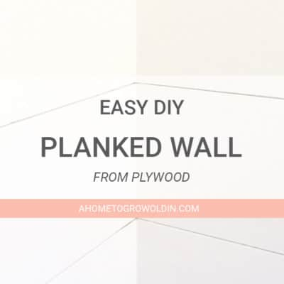Transitional Farmhouse Powder Room Makeover {One Room Challenge Week 3} – How to Put Wood Planks on a Wall