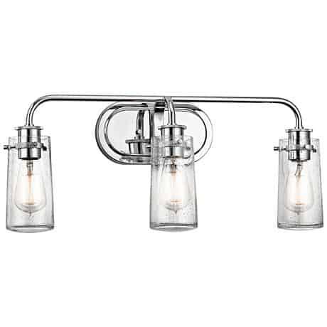 "Kichler Braelyn 3-Light 24"" Wide Seedy Glass Bath Light"