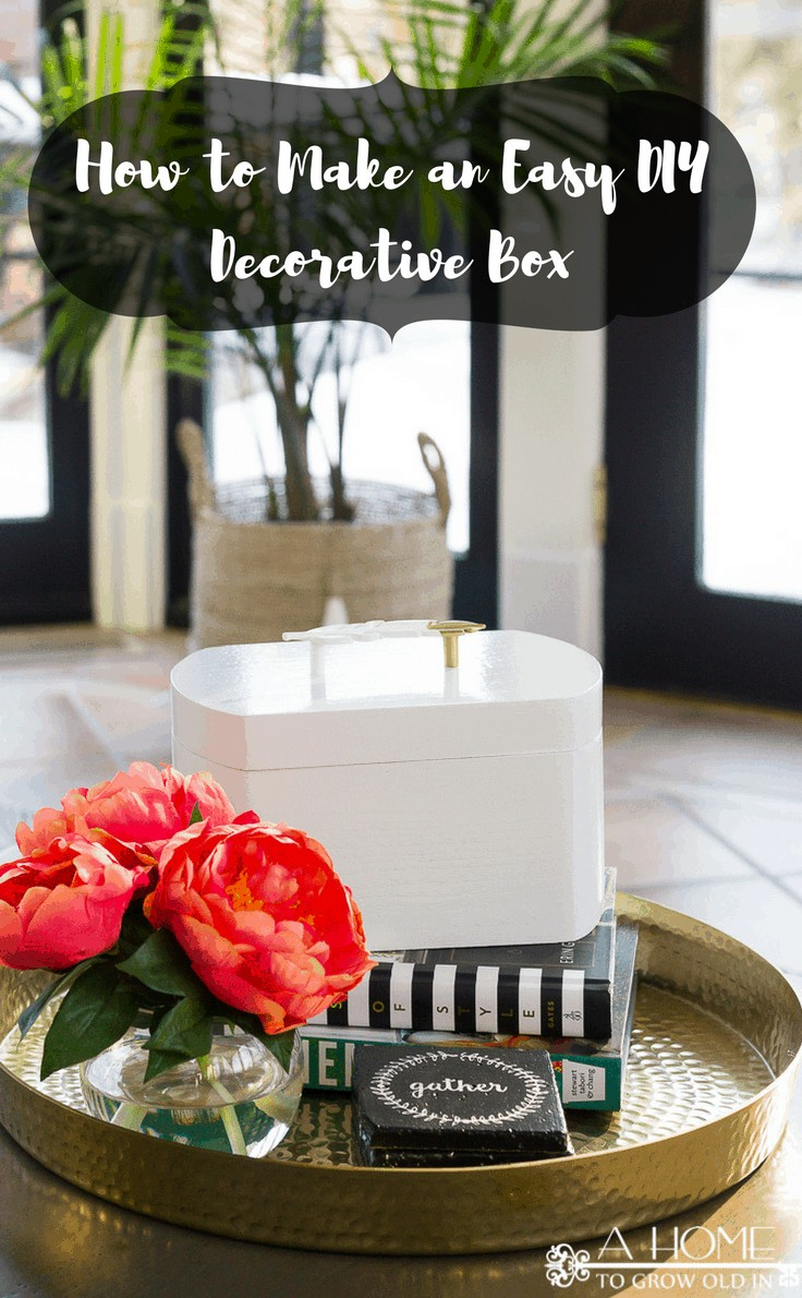 You will not believe how easy this decorative storage box is to put together! It's perfect for stashing those small items you don't know what to do with, and it looks beautiful!