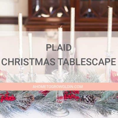 How to Decorate an Elegant Plaid Christmas Tablescape