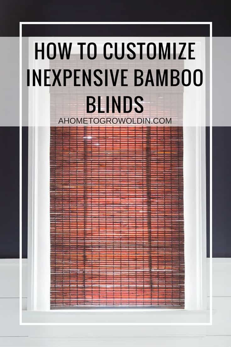 This is a great tutorial on where to buy inexpensive bamboo shades for any size window and how to easily shorten them to get a custom made look. Pin it so you don't forget it!