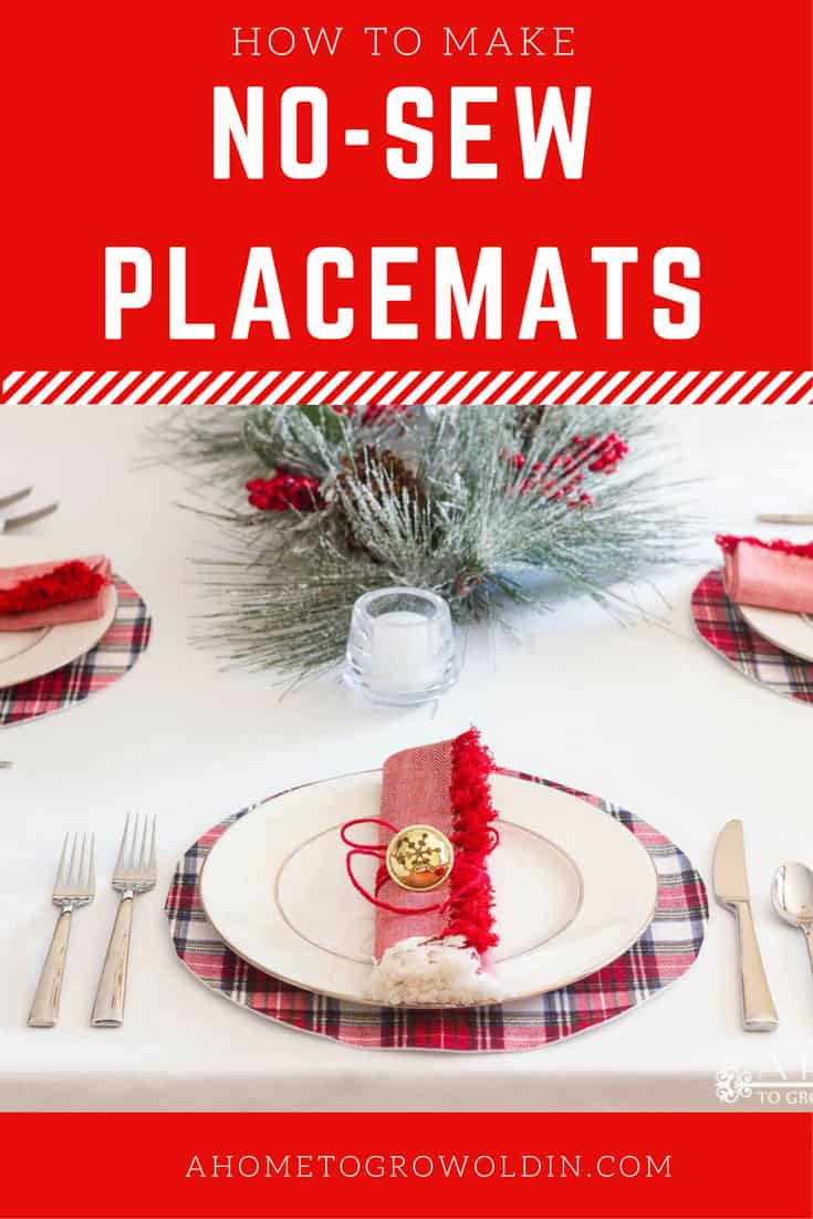 no sew flannel placemats