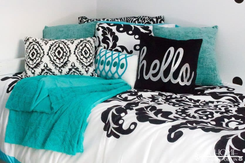 A Gorgeous Black, White, And Teal Girlu0027s Bedroom Reveal With Lots Of Zebra  Print