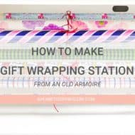How to Make a Gift Wrapping Station From An Old Armoire