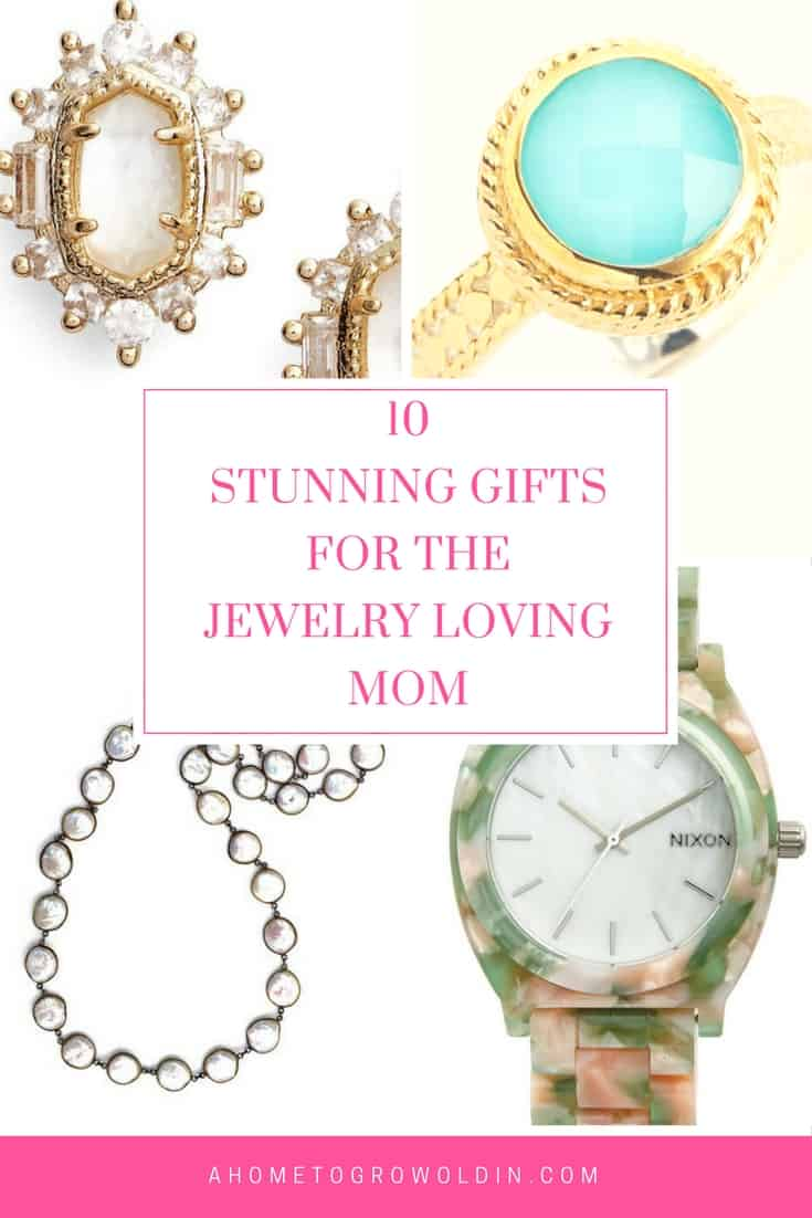 Check out these stunning gift ideas for the jewelry loving mom with links to 7 other gift guides for all types of moms! Get your Mother's Day shopping done early this year!