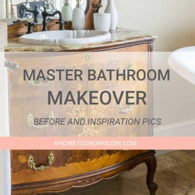 Master Bathroom Refresh {One Room Challenge Week 1}