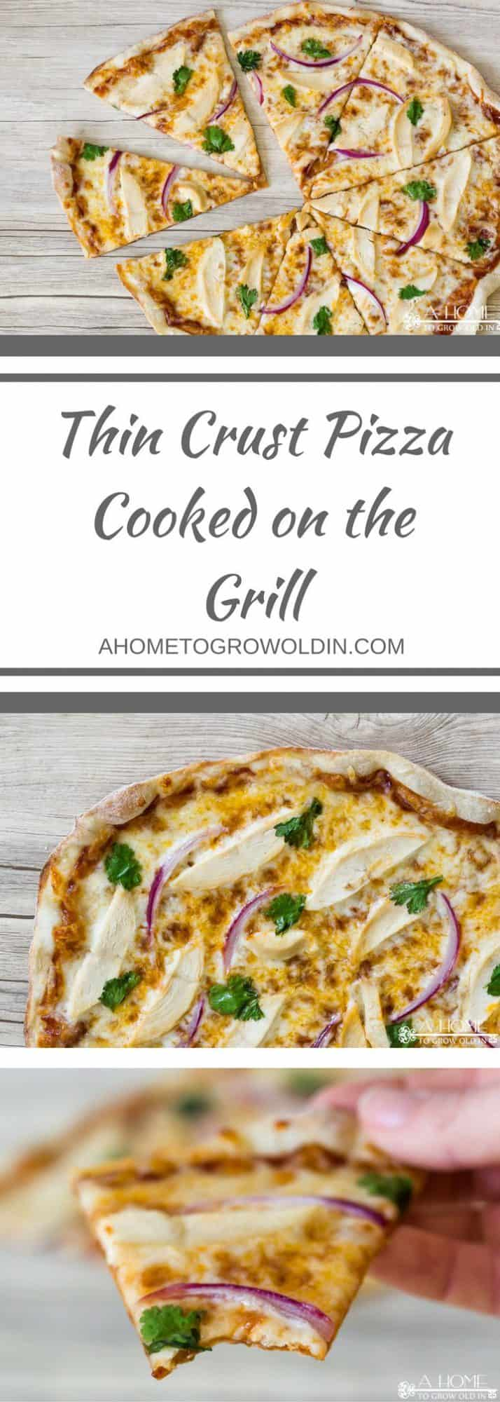Grilling is a great way to make a pizza that tastes just like it's out of a brick oven! If you like thin crust pizza, you can't get any thinner than this!
