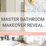 Modern Master Bathroom Makeover Reveal