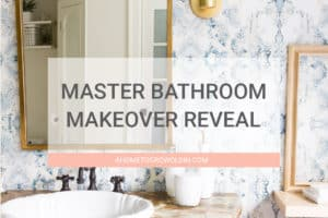 You won't believe the transformation in this easy bathroom makeover! It went from