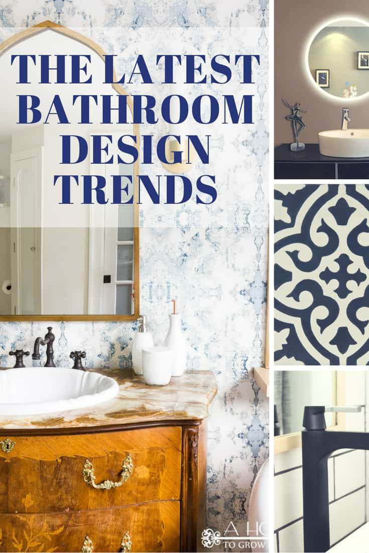 Don't miss these gorgeous inspiration pictures for 8 of the hottest trends in bathroom design. You'll find lots of ideas for a stunning bathroom makeover!