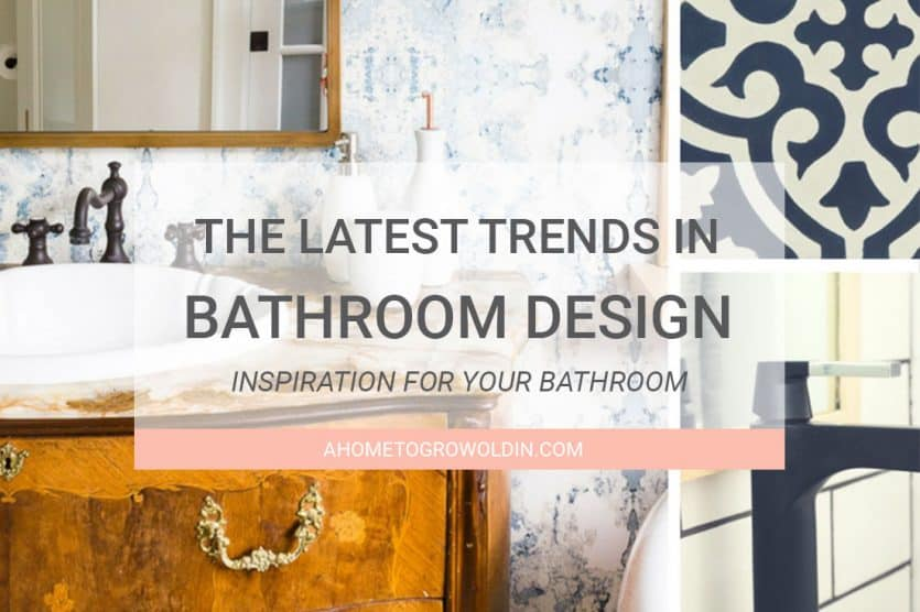 The latest bathroom design trends round mirrors bold for Latest trends in bathroom decor