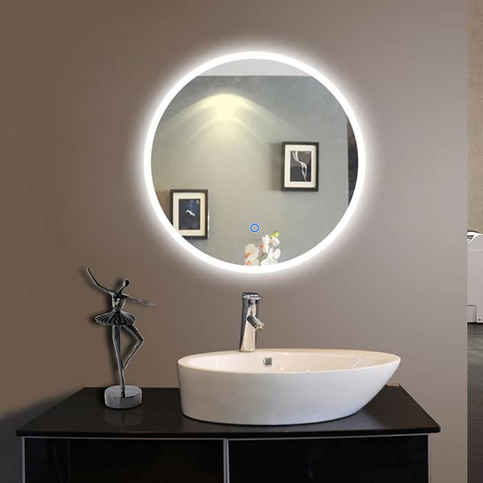 The latest bathroom design trends led mirrors bold for Bathroom mirror trends