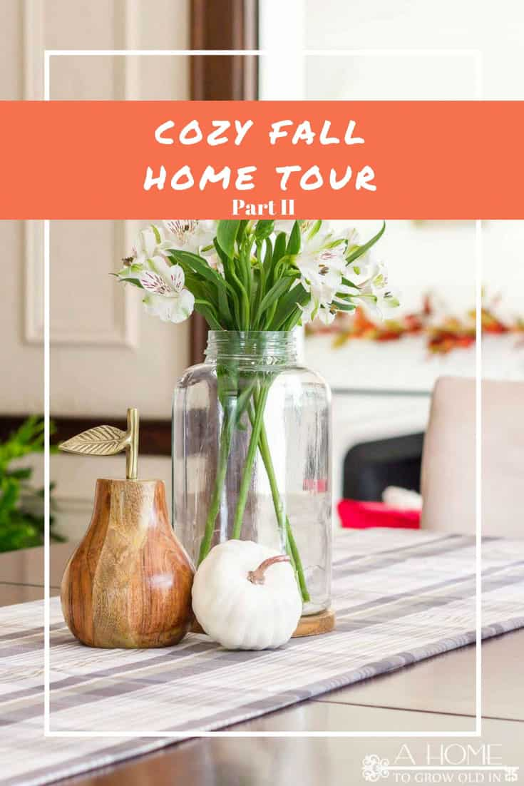 This fall decor home tour is so cozy and comfortable!  You'll want to grab yourself a cup of coffee or tea and stay awhile!