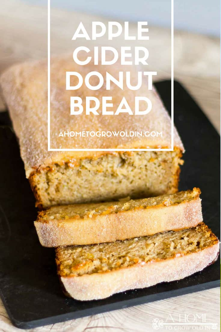 Apple Cider Donuts Bread is a delicious take on a New England classic! This cinnamon apple bread will soon become a fall family favorite!