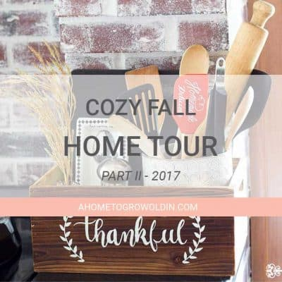 Cozy Fall Decor Home Tour 2107 – Part II