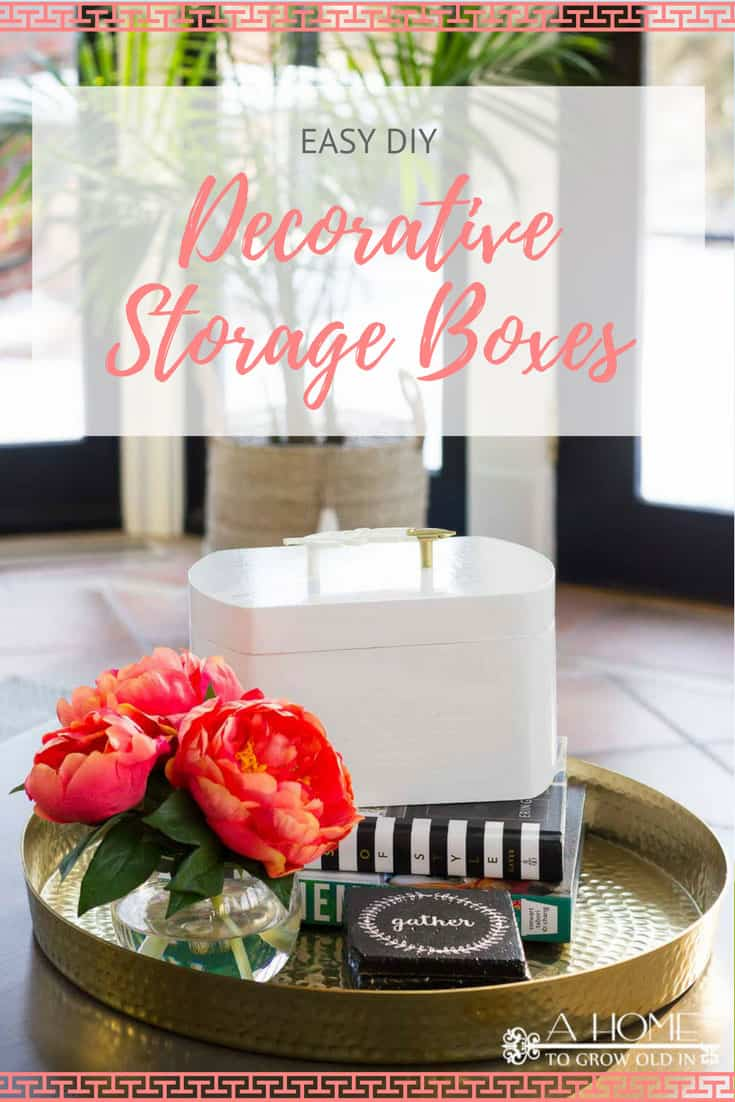 This decorative storage box is a crazy easy DIY that can be customized for any decor style!  Let your creativity flow and make one for every room of your home!