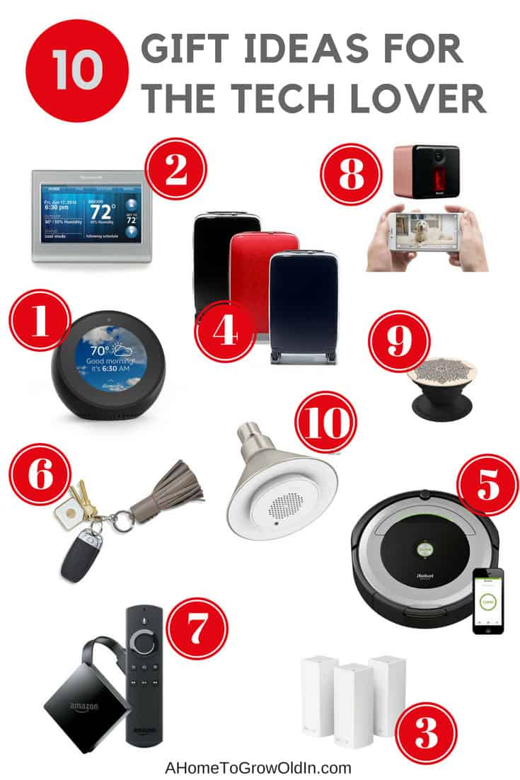 These gift ideas for the tech lover will help you get all your holiday shopping done in no time at all. You'll even find ideas on stocking stuffers!