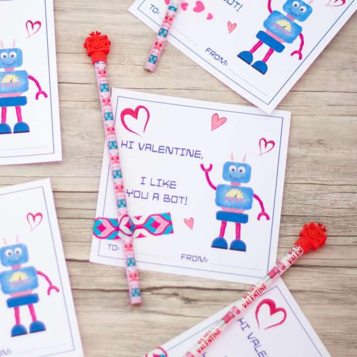 Robot Valentine's Cards