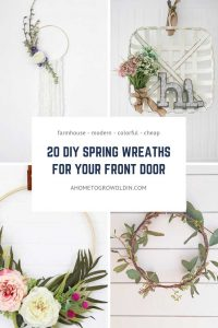 graphic for a round up of spring wreaths