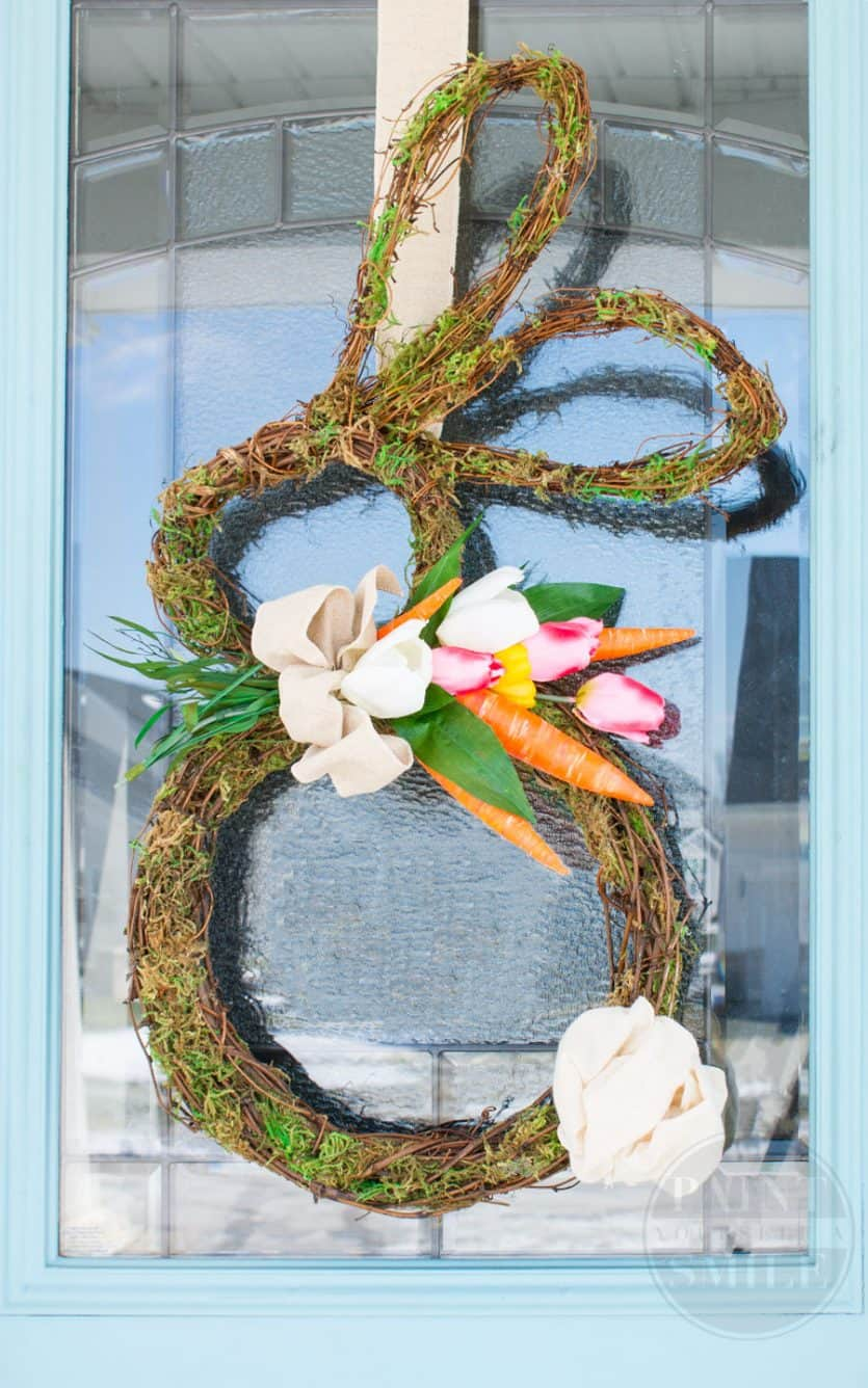 grapevine bunny wreath for easter
