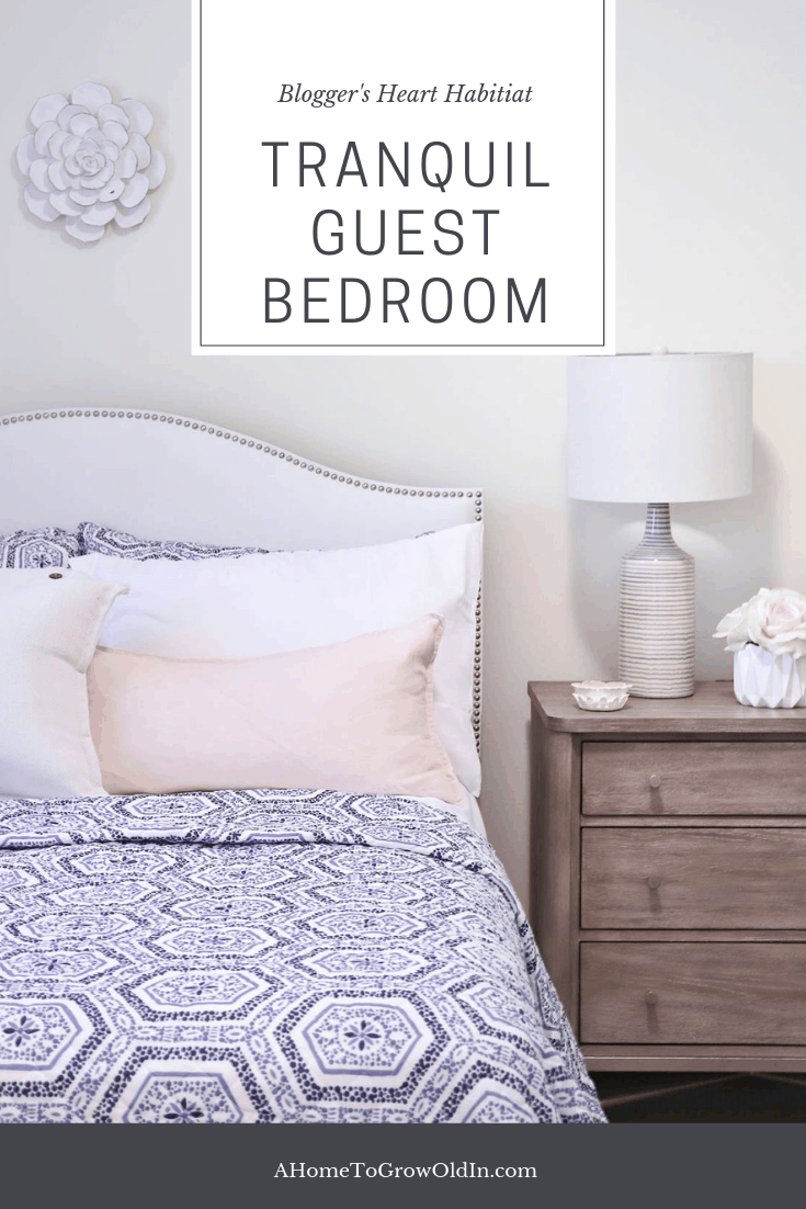 Tranquil Guest Bedroom Decor For Bloggers Heart Habitat A Home