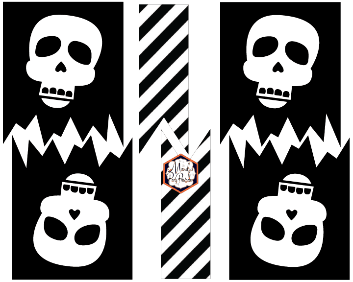 skeleton banner printable